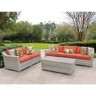 Fairmont 6 Piece Sofa Set with Cushions Color: Tangerine
