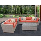 Florence 6 Piece Sofa Set with Cushions Color: Tangerine