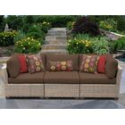 Monterey Corner Armless Sectional Piece with Cushions Color: Cocoa