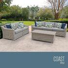 Coast 6 Piece Sofa Set with Cushions Cushion Color (Fabric): Gray