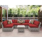 Coast 7 Piece Sectional Set with Cushions Cushion Color: Terracotta