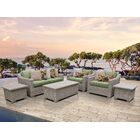 Coast 7 Piece Sectional Set with Cushions Cushion Color: Cilantro