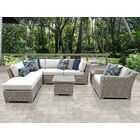 Coast 8 Piece Sectional Set with Cushions Cushion Color: White