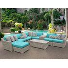 Coast 10 Piece Sectional Set with Cushions Cushion Color: Aruba