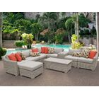 Coast 10 Piece Sectional Set with Cushions Cushion Color: Beige