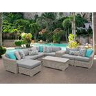 Coast 10 Piece Sectional Set with Cushions Cushion Color: Gray