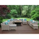 Coast 17 Piece Sectional Set with Cushions Cushion Color: Gray