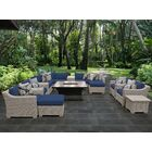 Coast 17 Piece Sectional Set with Cushions Cushion Color: Navy
