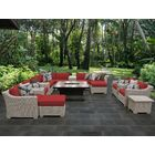 Coast 17 Piece Sectional Set with Cushions Cushion Color: Terracotta