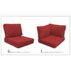 Miami 15 Piece Outdoor Cushion Set Fabric: Terracotta