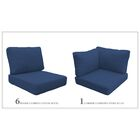 Miami 15 Piece Outdoor Cushion Set Fabric: Navy