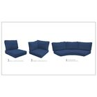Barbados 14 Piece Outdoor Cushion Set Fabric: Navy