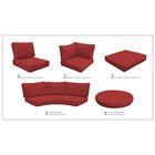 Barbados 21 Piece Outdoor Cushion Set Fabric: Terracotta