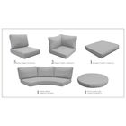 Barbados 22 Piece Outdoor Cushion Set Fabric: Gray