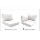 Florence 17 Piece Outdoor Cushion Set Fabric: White
