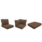 Barbados 21 Piece Outdoor Cushion Set Fabric: Cocoa