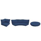Barbados 11 Piece Outdoor Cushion Set Fabric: Navy