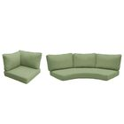 Barbados Outdoor Replacement Cushion Set Fabric: Cilantro