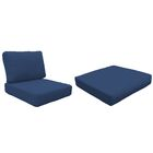Miami 12 Piece Outdoor Lounge Chair Cushion Set Fabric: Navy