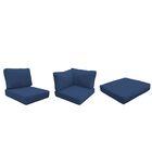 Barbados 25 Piece Outdoor Cushion Set Fabric: Navy