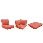 Barbados 25 Piece Outdoor Cushion Set Fabric: Tangerine