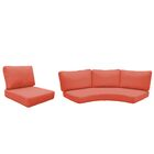 Florence 14 Piece Outdoor Cushion Set Fabric: Tangerine