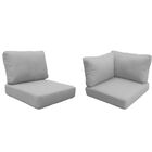 Florence 13 Piece Outdoor Cushion Set Fabric: Gray