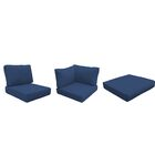 Miami 12 Piece Outdoor Cushion Set Fabric: Navy