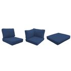 Miami 16 Piece Outdoor Cushion Set Fabric: Navy