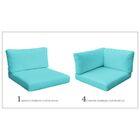 Monaco 14 Piece Outdoor  Cushion Set Fabric: Aruba