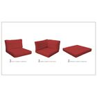 Monaco 12 Piece Outdoor Cushion Set Fabric: Terracotta