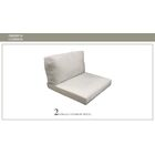 Monaco Outdoor 4 Piece Lounge Chair Cushion Set