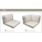 Monaco Outdoor 10 Piece Lounge Chair Cushion Set