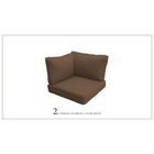 Capecod Outdoor Replacement Cushion Set Fabric: Cocoa