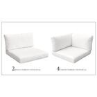 Monaco 16 Piece Outdoor Cushion Set Fabric: White
