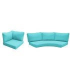 East Village 10 Piece Outdoor Cushion Set Fabric: Aruba