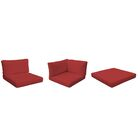 Monaco Outdoor 13 Piece Lounge Chair Cushion Set Fabric: Terracotta