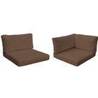 Monaco Outdoor 17 Piece Lounge Chair Cushion Set Fabric: Cocoa