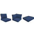 Capecod 10 Piece Outdoor Lounge Chair Cushion Set Fabric: Navy