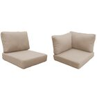 Capecod 14 Piece Outdoor Lounge Chair Cushion Set Fabric: Wheat