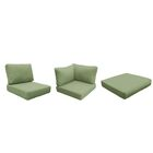East Village Outdoor 21 Piece Lounge Chair Cushion Set Fabric: Cilantro