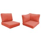 Eldredge Outdoor 15 Piece Lounge Chair Cushion Set Fabric: Tangerine