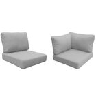 Eldredge Outdoor 10 Piece Lounge Chair Cushion Set Fabric: Gray