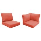 Eldredge Outdoor 10 Piece Lounge Chair Cushion Set Fabric: Tangerine