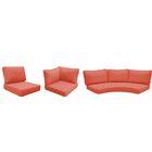 East Village 14 Piece Outdoor Cushion Set Fabric: Tangerine