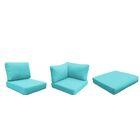 Fairmont Outdoor 23 Piece Lounge Chair Cushion Set Fabric: Aruba