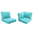 Capecod 15 Piece Outdoor Lounge Chair Cushion Set Fabric: Aruba