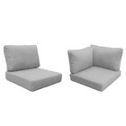 Capecod 14 Piece Outdoor Lounge Chair Cushion Set Fabric: Gray