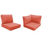 Eldredge Outdoor 17 Piece Lounge Chair Cushion Set Fabric: Tangerine
