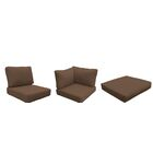 Eldredge Outdoor 14 Piece Lounge Chair Cushion Set Fabric: Cocoa